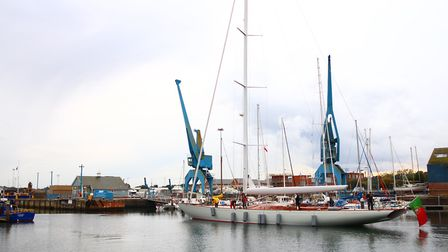 Spirit Yachts saw off the largest, single-masted wooden yachet ever built in the UK as it leaves for