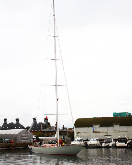The Giest is one of the largest, single-masted wooden yachts ever built in the UK Picture: SAM DAW