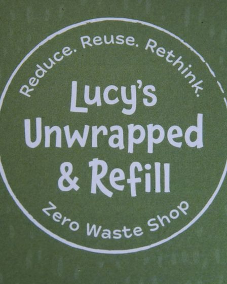 Lucy Storey's logo as she raises funds for a zero waste refill one-stop shop in Ipswich. Picture: DE