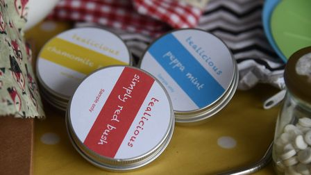 Reusable tea tins at Lucy Storey's home in Ipswich. Picture: DENISE BRADLEY