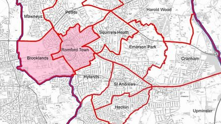 Wards covered by the new selective licence. Picture: Havering Council
