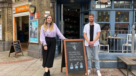 Georgina McGivern, Camden Clean Air programme manager, and Luke Candler, partnerships executive for