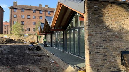 The new event space at Springfield Park, set in the old stables. Picture: Hackney Council