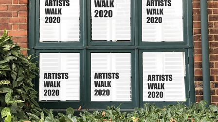 North London artists are organising an artists walk where artworks are displayed in windows and view