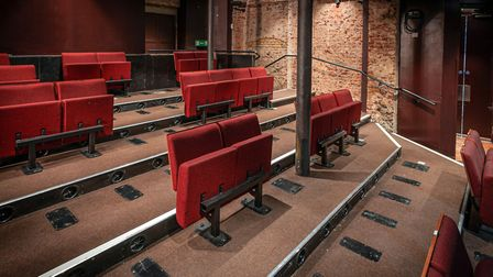 The new socially distanced seating at Islington's Almeida Theatre