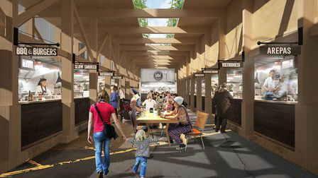Concepts for Mercato Ilford, which started construction after a delayed start. Picture: Mercato Metr