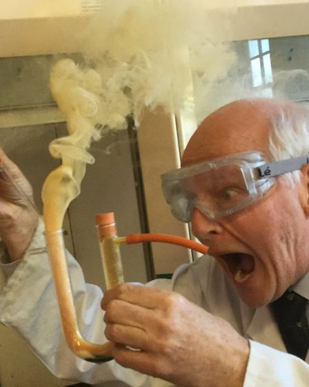 Dr Andrew Szydlo is a chemistry teacher who enjoys making things go bang. Picture: Highgate School