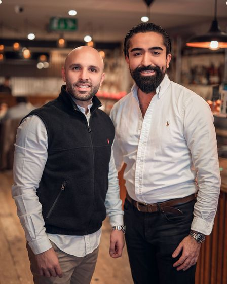 215 Hackney restaurant ownerss Cemal Polat and Ali Kalkan have lived in Hackney almost 30 years. Pic
