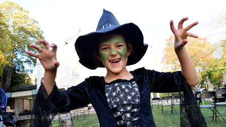 Georgia, 8, who dressed as a spider witch. Picture: Polly Hancock