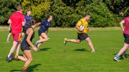 Touch rugby sessions with the seniors on Hampstead Heath Extension (Pic: Hampstead RFC)