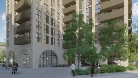 An artist's impression of the proposed Mill Road development in Ilford. Picture: Telford Homes