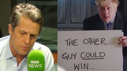 Hugh Grant had some choice words about Boris Johnson's spoof scene from Love, Actually. Pictures: BB