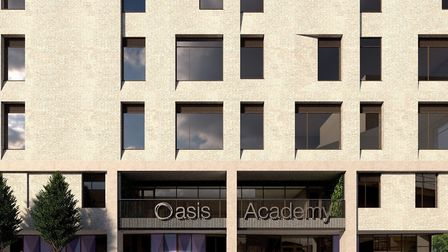 An artist's impression of the new Oasis Academy Silvertown building. Picture: Influential