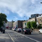 Gridlock in Amhurst Road, Hackney Central, where the council is considering putting up traffic filte