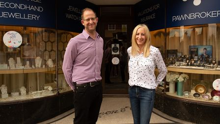 Cohens Jewellers co-owners Robert Cohen and Natalie Werter. Picture: Redwood BBDO