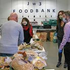Tulip Siddiq helped the team at JW3 to deliver food parcels this week. Picture: JW3