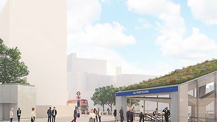 An artist's impression of what Old Street station will look like by next year. Picture: TfL