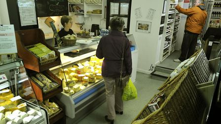 Customers at Memorable Cheeses, Dial Lane, Ipswich, which was mentioned in a survey of most-missed s