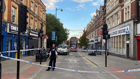A man was injured after being struck with a bottle in Harlesden High Street. Picture: David Nathan