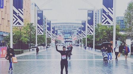 Christina Kumar completed the London Marathon in aid of trafficked children. Picture: IJM