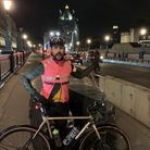 Jack McGurran on his cycle ride. Picture: Centrepoint