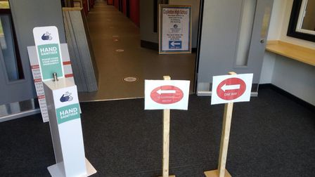 Copleston High School has installed extensive Covid-secure measures around the school. Picture: COPL