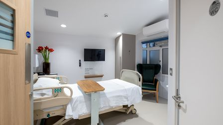 A bedroom at the newly refurbished inpatient unit at St John's Hospice. Picture: Neil Kenyon/St John