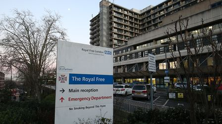 A view of the Royal Free Hospital teaching hospital in the Hampstead area of the London Borough of Camden. The hospital is...