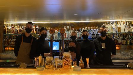 Staff at the Luna bar and restaurant in West Hampstead. Picture: Sally Patterson
