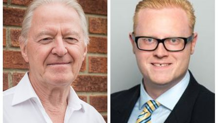 Formal complaints have been filed against Conservative councillors Ray Best (left) and Matt Sutton (
