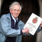 David Johnson when he found a certificate awarded for the village of Acton's fundraising efforts dur
