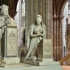 Sculptures of King Louis XVI and Queen Marie Antoinette, by Edme Gaulle and Pierre Petitot. They are