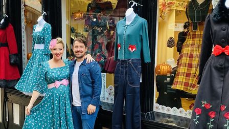 Pocket Watch & Petticoats owner Sophia Taylor-Norris (pictured with her husband) is urging people to continue to support...