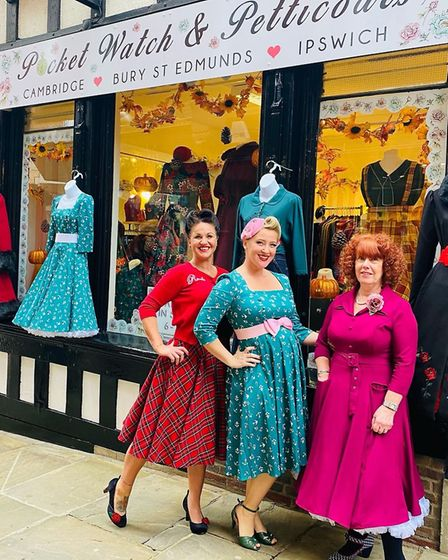 Sophia Taylor-Norris (middle), who is the owner of Pocket Watch & Petticoats in Ipswich, which has now moved into the old...