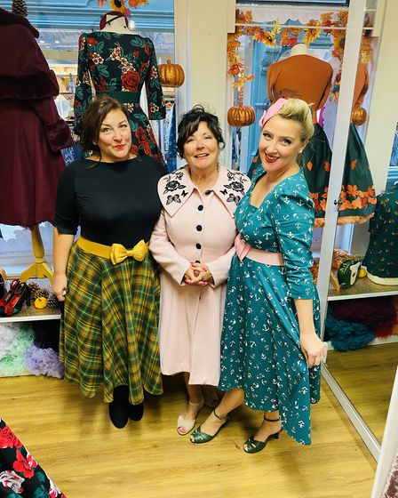 SophiaTaylor-Norris (right) and her team at Pocket Watch & Petticoats in Ipswich in theThoroughfare. Picture: POCKET WATCH...