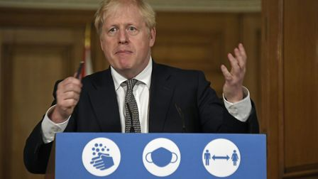 Prime Minister Boris Johnson announces the second lockdown during a media briefing on Saturday Pict