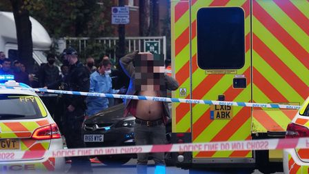 Police and ambulance were called to a crash on Holloway Road. Picture: Steve Merrick