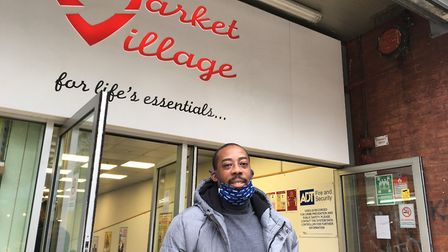 Tyrone Brown-Shakespeare is the assistant manager at Market Village. Visit @StratfordMVC on Facebook. Picture: Jon King
