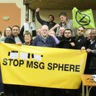 Members of the grassroots Stop MSG Sphere campaign. Picture: Hannah Somerville
