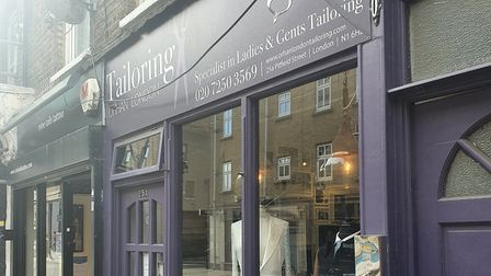 Orhan London Tailoring on Pitfield Street. Picture: Holly Chant