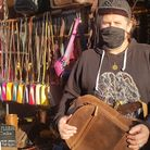 Christopher Moss at his shop, Bags of Moss. Picture: Bags of Moss
