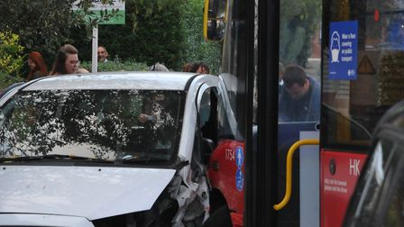 No-one is thought to have suffered serious injuries in the crash. Picture: David Winskill