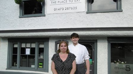 Tina Leamon and her son James, who manage The Grill at Twenty5 in Ipswich Picture: DAVID VINCENT