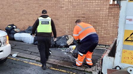 Council enforcement officers teamed up with the cleansing team to trace flytippers back to 42 Redbri