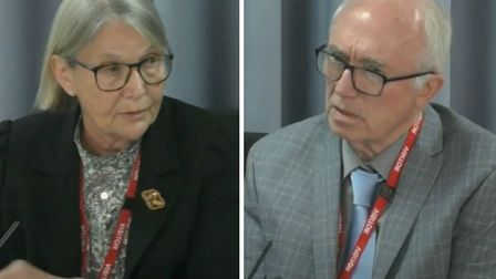 Professors Christine Lee and Edward Tuddenham at the Infected Blood Inquiry. Picture: IBI