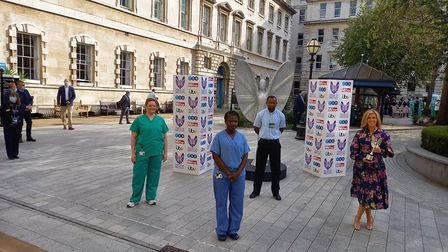 From left to right: Charlotte Greenfield, critical care physiotherapist at the Royal Free Hospital;