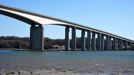 The Orwell Bridge is set to remain open today despite strong winds Picture: CHARLOTTE BOND
