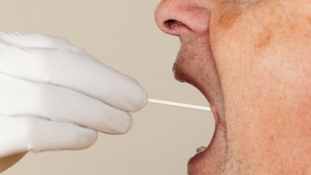 A person being tested for covid. Picture: PA/Wire