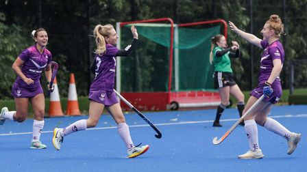 Hampstead and Westminster Ladies in action against Loughborough Students (Pic: Mark Clews)