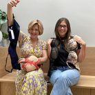 Kate Courtman, 37 and Sarah Mountford, 39, founded 'The Bra Sisters'. Picture: The Bra Sisters